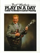 Bert Weedon's Play In A Day Guitar Sheet Music Tutor Book Learn How To Play Easy