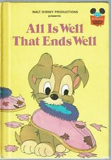 Disney's Wonderful World Of Reading Book ~ ALL IS WELL THAT ENDS WELL ~ Scamp
