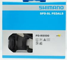 Shimano PD-RS500 SPD-SL Road Bike Pedals Set w/ SM-SH11 Black Upgraded from R540