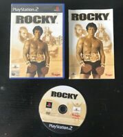 ROCKY ORIGINAL BLACK LABEL SONY PLAYSTATION 2 PAL COMPLETE WITH MANUAL