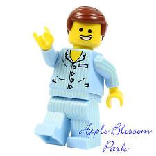 NEW Lego Movie EMMET MINIFIG w/Light Blue Minifigure Striped Pajama Torso Legs