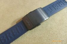 Breitling BLACK Titanium Deployant w/Blue 157S Pro Diver III strap, 22/20