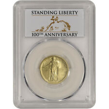 2016-W US Gold Standing Liberty Quarter (1/4 oz) 25C - PCGS SP70 First Strike