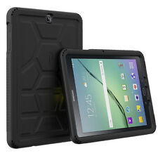 Poetic Turtle Skin Corner/Bumper Protection Case for Galaxy Tab S2 9.7 Black