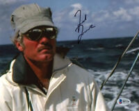 TED TURNER SIGNED AUTOGRAPHED 8x10 PHOTO COURAGEOUS AMERICA'S CUP BECKETT BAS