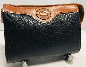 Vintage Dooney & Bourke *Black*Cosmetic/Utility Case/Clutch 19021F S217