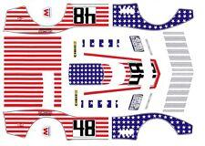 #48 Stars N Stripes Corvette 1971 1/32nd Scale Slot car Waterslide Decals