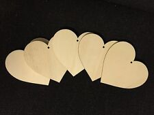 20x Wood Heart craft shape ply wooden blanks plaque card making  pyrography 10cm