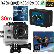2.0'' HD 1080P Action Camera 30m Waterproof Diving Camcorder 120° Video Recorder