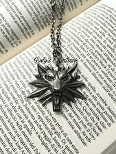 Collana The Witcher wolf lupo logo videogames action fantasy cosplay wild hunt