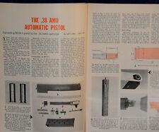 "ORIGINAL Article ""Converting COLT Model 1911 to fire .38 AMU"" 3-p Magazine 1963"