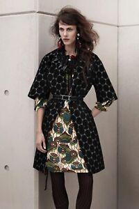 Marni H&M Polka Dot Black Coat Overcoat Size 34