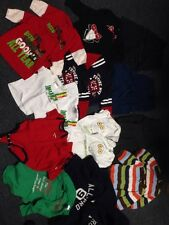 Huge Lot Twin Boys Clothes 24 Pc Lot Pants Shirts Sweats Sweater Coat Size 0-9 M