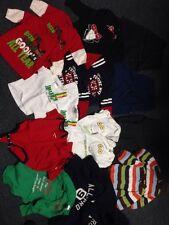 Huge Lot Twin Boys Clothes 24 Pc Lot Pants Shirts Sweats Sweater Coat Size 0-9 M