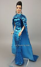 Eaki Evening Blue Dress Outfit Gown FR Fits Silkstone Barbie Fashion Royalty