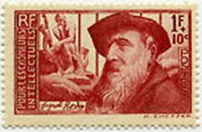 "FRANCE STAMP TIMBRE 384 "" AUGUSTE RODIN 1F+10c LE PENSEUR "" NEUF x TB"