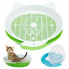 Cat Litter Box Pee Toilet Round Enclosed Kitten Bedpans For Cats Plastic Tray