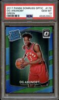 2017 Donruss Optic Green OG Anunoby ROOKIE RC /5 #178 PSA 10 Gem Mint