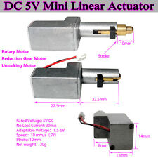 DC 5V Mini Linear Actuator Rotary Motor Reduction Gear Motor DIY Unlocking Motor