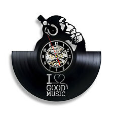 DJ Wall Clock Retro Disco Art Vintage Music Party Decor Gift Dance Club Handmade