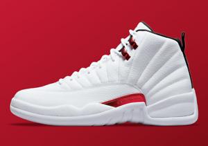 Nike Air Jordan 12 Retro GS Twist SZ 6.5Y White Black University Red 153265-106