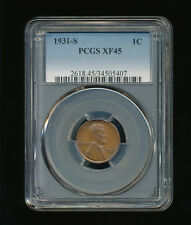 1931-S Lincoln Wheat Penny Cent 1C PCGS XF 45 Type 1 Wheat Reverse RARE KEY DATE