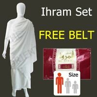 Premium Cotton Ihram Cloth Towel Al Marwa Red Ehram Luxury Quality Adult Size