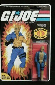 GI JOE COBRA CUSTOM 1983 COMMANDER MOVIE SNAKE MAN ACTION FIGURE ON CARD