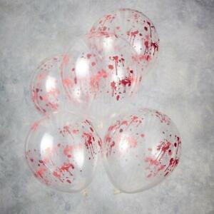 Blood Splatter Print Halloween Balloons  - Halloween Party Decorations -Pack of