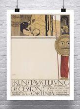 Vienna Secession 1897 Gustav Klimt Poster Rolled Canvas Giclee Print 24x32 in.