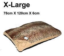 Grand comfy doux lavable chien animaux chat chaud panier lit coussin oreiller leopard