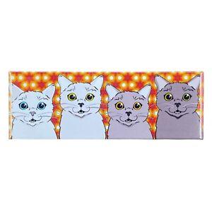 Retro Cat Magnet Psychedelic Pet Portrait Gift Kitchen Refrigerator Locker Decor