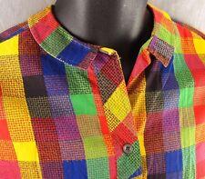 Vintage Macshore Classics Blouse Girls Plaid Shirt 13-34 Long Sleeve Top 1960s