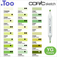 "Copic Sketch Marker Pen ""YG(Yellow Green) Color Series"""