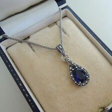 Sterling Silver Sapphire Fine Necklaces & Pendants