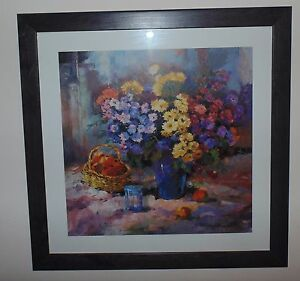 Modern Print Mediterranean Floral & Fruit Designer Collection Consort Pictures