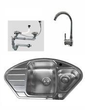 Edelstahlspüle GLATT Armatur Küchenspüle Einbauspüle Spüle Spülbecken rund