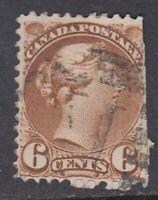 """Canada Scott #39  6 cent yellow brown """"Small Queen""""   filler"""