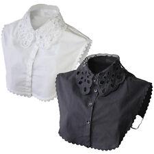 Women Detachable False Shirt Lace Collar Dickey (Sold as 2 Pcs)