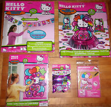 Lot Hello Kitty Rainbow Party Supplies Banner Table Decorations Invitations