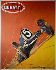 Affiche Bugatti - Bugatti en pleine vitesse - Roger Soubie