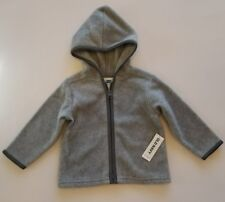 Old Navy Baby Hoodie Fleece Jacket, Grey ▪size 6-12 Month ▪FREE Shipping!