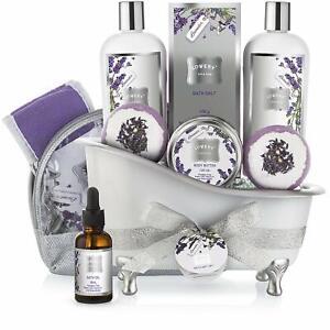 Lovery Lavender Bath Gift Set (8 pieces) ~ SEALED ~ NIB