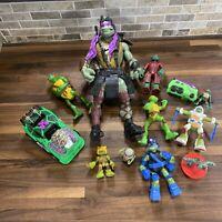 "Lot of 12 Teenage Mutant Ninja Turtles action figures Vehicles 11"" Donatello"