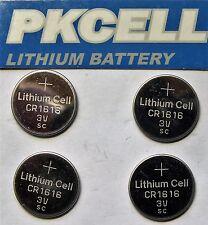 CR-1616 x 4  PK-CELLS  CR-1616 LITHIUM 3v COIN BATTERIES UK SAME DAY POST