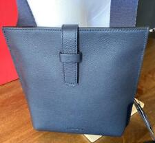 Giorgio Armani  Y2M199 Men's dark Navy Blue leather crossbody shoulder bag $1295