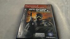 2004 Tom Clancy Splinter Cell Pandora Tomorrow for PlayStation PS2  box & manual