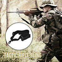 Outdoor Sport Tool Tactical Single Point Adjustable Rifle Gun Sling Strap 2019