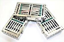 3 GERMAN DENTAL AUTOCLAVE STERILIZATION CASSETTE RACK BOX TRAY FOR 7 INSTRUMENT