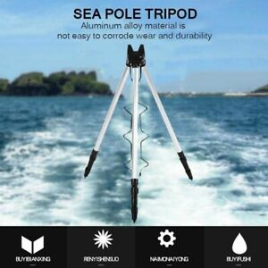Fishing Rod Stand holder ground Rack Pol Tripod Telescopic Foldable Sea Fish